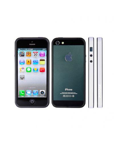 FitCase Bumper BPCIP5-05 за iPhone 5 -  бяло-черен - 1