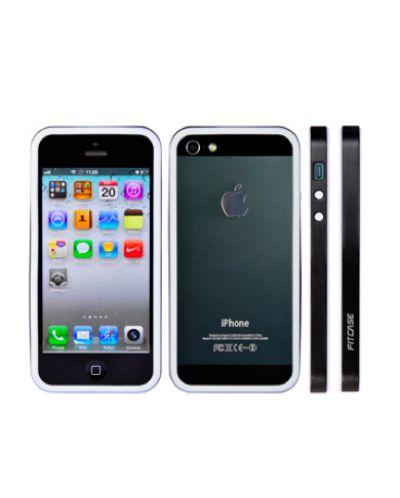 FitCase Bumper BPCIP5-04 за iPhone 5 -  черно-бял - 1