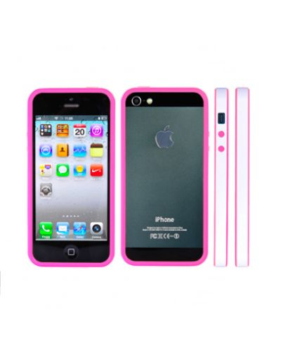 FitCase Bumper BPCIP5-05 за iPhone 5 -  розово-бял - 1