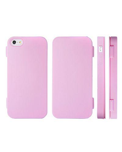 FitCase TPU Flip Case  силиконов кейс тип портфейл за iPhone 5 (розов) - 1