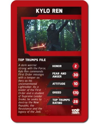 Игра с карти Top Trumps - Star Wars The Force Awakens - 3