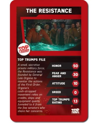 Игра с карти Top Trumps - Star Wars The Force Awakens - 2