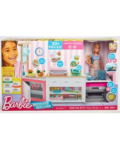 Игрален комплект Mattel Barbie - Кухнята на Барби, със звук и светлини - 10