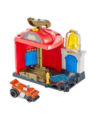 Игрален комплект Hot Wheels City Downtown - Fire Station Spinout - 2