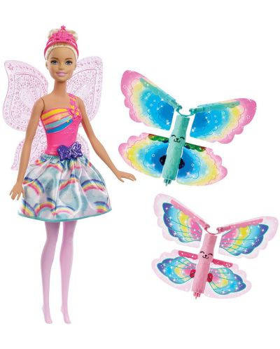 Кукла Mattel Barbie Dreamtopia - Фея, с летящи криле - 3