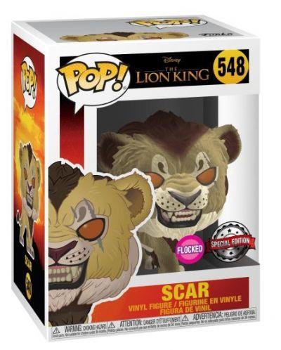 Фигура Funko Pop! Disney: The Lion King - Scar (Flocked), #548 - 2