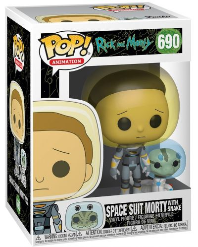 Фигура Funko Pop! Animation: Rick & Morty - Space Suit Morty with Snake, #690 - 2