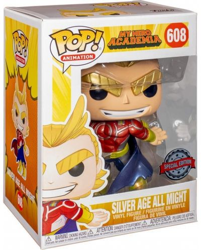 Фигура Funko Pop! Animation: My Hero Academia - Silver Age All Might (Special Edition), #608 - 2