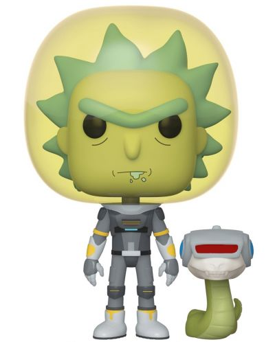 Фигура Funko Pop! Animation: Rick & Morty - Space Suit Rick with Snake, #689 - 1