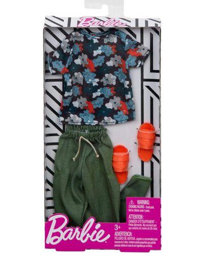Дрехи за кукла Mattel Barbie - Тениска с панталон и чехли, за Кен - 2