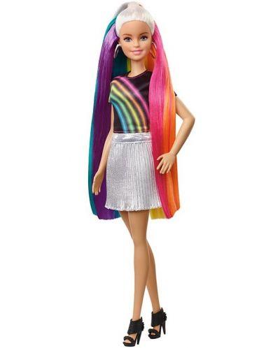 Игрален комплект Mattel Barbie - Прическа Дъга - 5