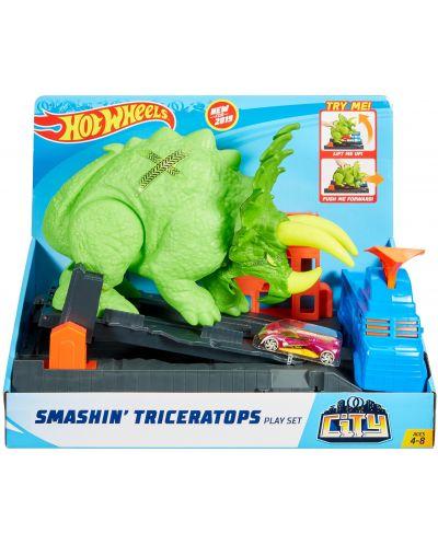 Игрален комплект Hot Wheels City - Triceratops - 1