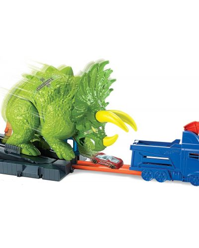 Игрален комплект Hot Wheels City - Triceratops - 3
