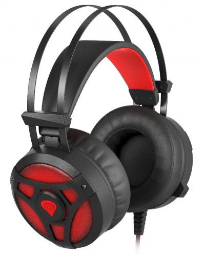 Гейминг слушалки Genesis Neon 360 - черни/червени - 2