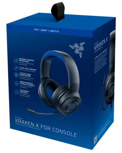 Гейминг слушалки Razer Kraken X for Console - 5