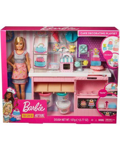 Игрален комплект Mattel Barbie - Приготвяне на сладкиши - 1