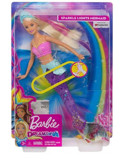 Кукла Mattel Barbie - Русалка със светеща опашка - 8