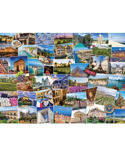 Пъзел Eurographics от 1000 части - Гледки от Франция - 2