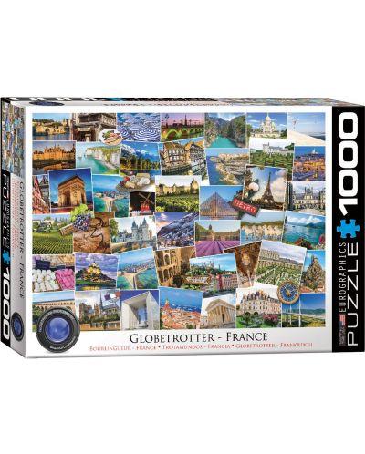 Пъзел Eurographics от 1000 части - Гледки от Франция - 1