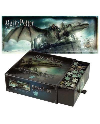Панорамен пъзел Harry Potter от 1000 части - Бягство от банка Гринготс - 1