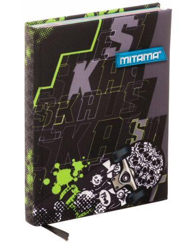 Тефтер Mitama А5 - Skate, с текстилни корици - 1