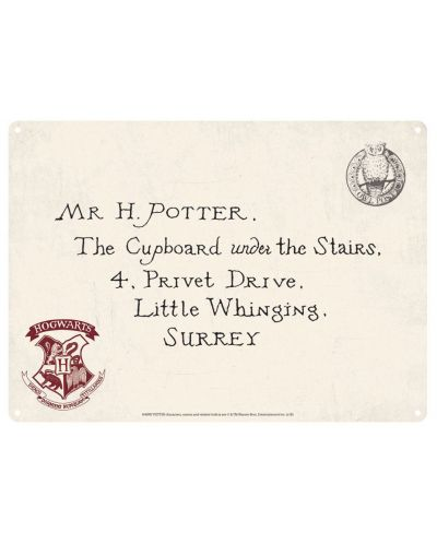 Табелка за врата Half Moon Bay - Harry Potter: Letters  - 1