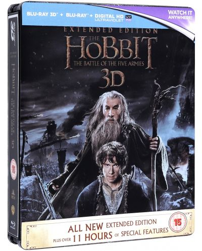 The Hobbit: The Battle Of The Five Armies - Steelbook Extended Edition 3D+2D (Blu-Ray) - 1
