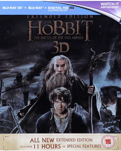 The Hobbit: The Battle Of The Five Armies - Steelbook Extended Edition 3D+2D (Blu-Ray) - 3