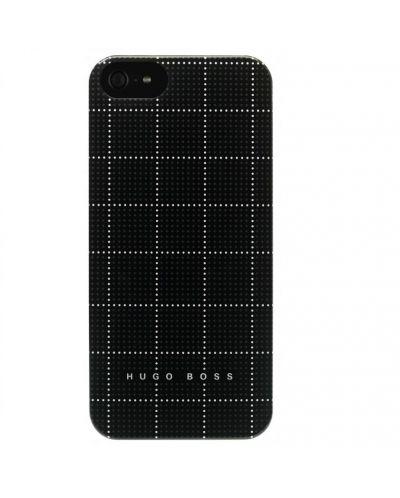 HUGO BOSS Squares Hardcover за iPhone 5 -  черен - 1