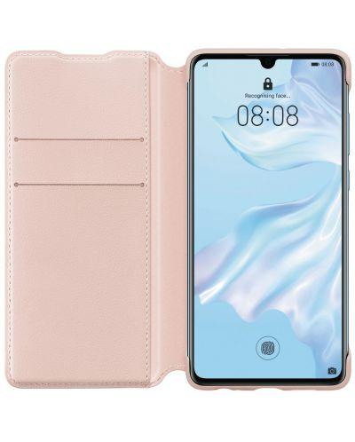 Калъф Huawei Elle P30 - Wallet Cover, розов - 3