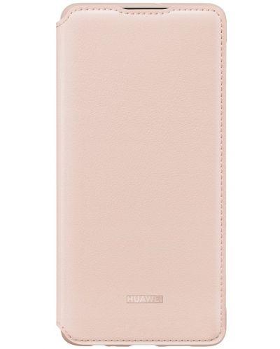 Калъф Huawei Elle P30 - Wallet Cover, розов - 1