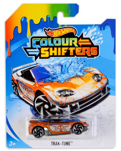 Количка Hot Wheels Colour Shifters - Trak-Tune, с променящ се цвят - 1