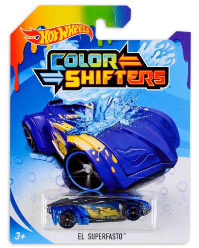 Количка Hot Wheels Colour Shifters - El Superfasto, с променящ се цвят - 1