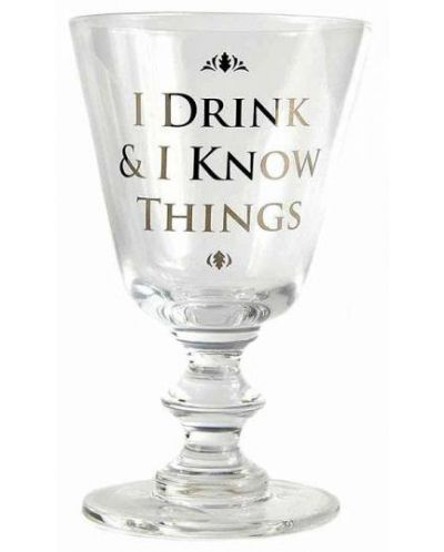 Чаша за вино Game of Thrones: I Drink & I Know Things - 1