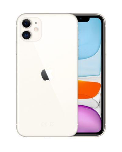 Смартфон Apple - iPhone 11, 64 GB,  бял - 1