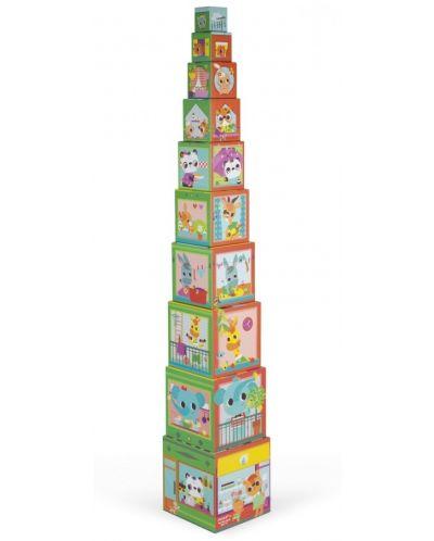 Пирамида от кубчета Janod - Приятели в града - 3