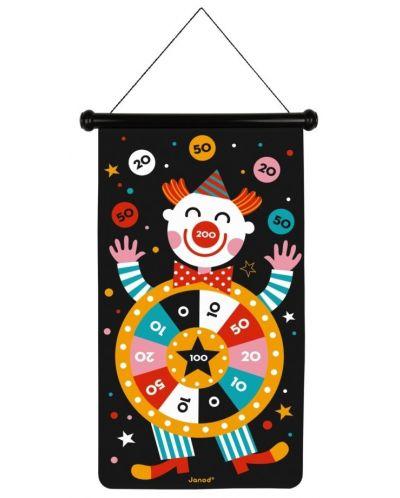 Детска игра Janod - Магнитен дартс, с цирк - 3