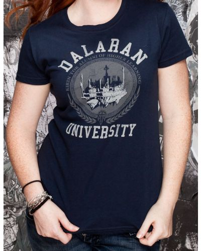 Тениска Jinx World of Warcraft Dalaran University, синя - 7