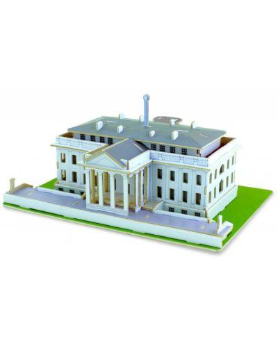 Дървен 3D пъзел Robo Time от 87 части – Белият дом - 1