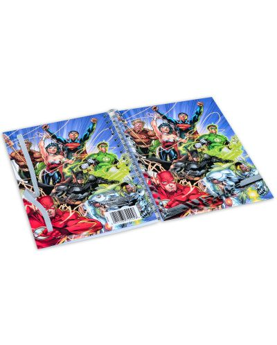 Тефтер Pyramid - Justice League United, формат A5 - 3