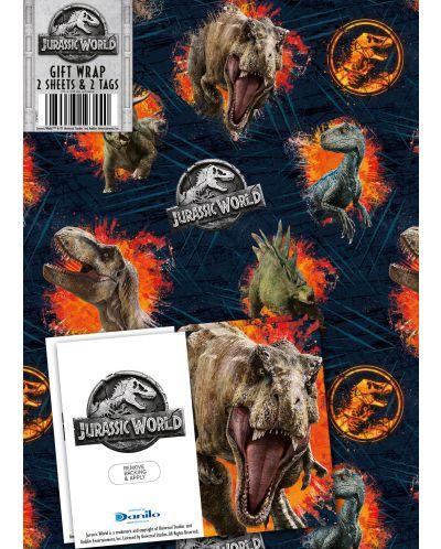 Хартия и етикети за подарък Danilo - Jurassic World - 1