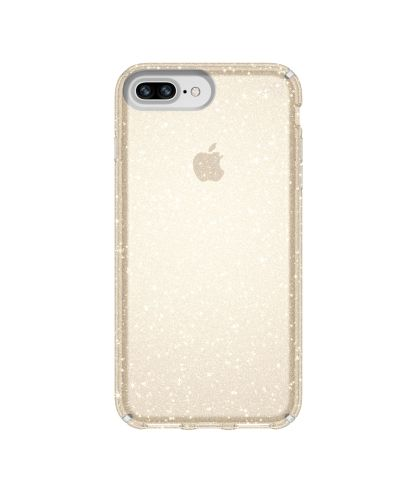 Калъф Speck iPhone 8/7/6S/6 Plus Presidio Clear + Glitter - Clear With Gold Glitter/Clear - 1
