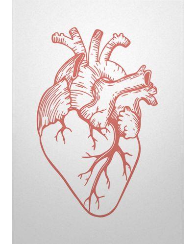 Картичка Мазно.бг - Анатомично сърце - 1