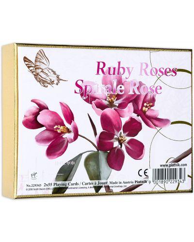 Карти за игра Piatnik - Ruby Roses (2 тестета) - 1