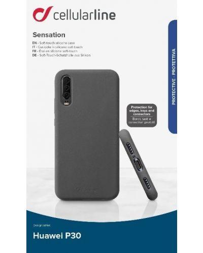 Калъф за Huawei P30 Cellularline - Sensation, черен - 1