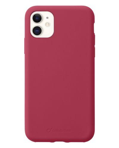 Калъф за iPhone 11 Cellularline - Sensation, червен - 1