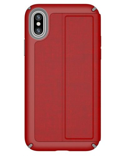 Калъф Speck iPhone X Presidio Folio - Heathered Heartrate Red/Heartrate Red/Graphite Grey - 1