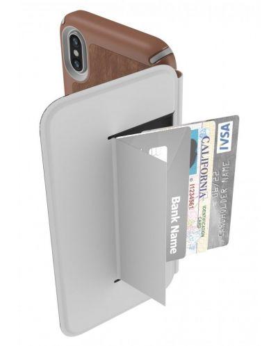 Калъф Speck Presidio Folio - за iPhone X, кожен, кафяв/сив - 5