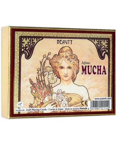 Карти за игра Piatnik - Mucha Beauty (2 тестета) - 1