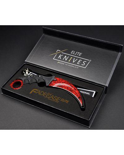Нож FadeCase – Karambit Elite – Crimson Web - 4
